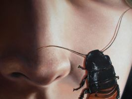 girl with a bug No.2 : detail by volkano-art