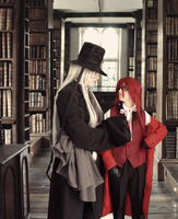 .::Undertaker And Grell in Library by FranciscaEdyr