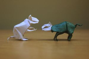 Origami Cats by nekomancer123