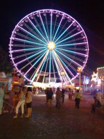 Vienna_The Prater At Night by Charmadige