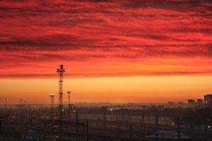 industrial sunrise by ingo1234