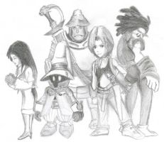 Final Fantasy 9 Characters by coolkaix