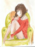 Sylva in red pull-over by K-naille
