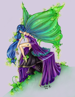 Leaf Fairy Line Art by *UGLITRY Reloaded by Suiish