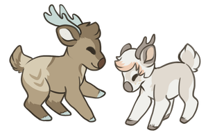 Deer Minis by CrocodiIe