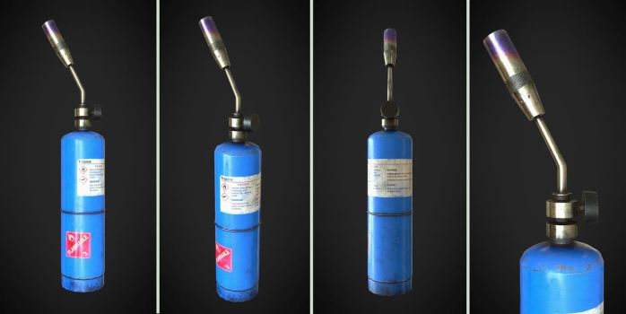 Hand held propane torch by Nikola3D