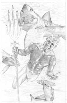 Aquamanaquaman pencils by tat2istcecil