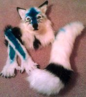 Blue White Canine Fursuit Partial - SOLD by DragonTU84