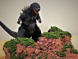 Yuji Sakai GMK Godzilla with Custom Base by Legrandzilla