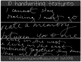 handwriting texture set001 by kasumisukimix