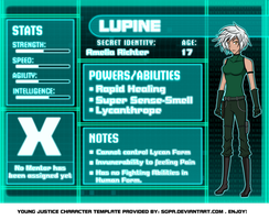 Amelia Ritchter - Young Justice Bios by Raixal