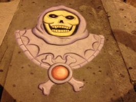 Sidewalk Skeletor by Chalkarts