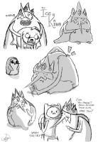 Ice King Sketchdump by LoniganTheDragon