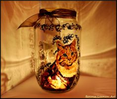 Tigger the Kitty Candle Holder by Bonniemarie