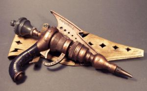 Steampunk raygun in copper by TomBanwell