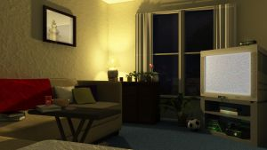 Living Room Night by KyleConway727