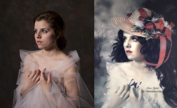 before after butterfly by mirandaarts