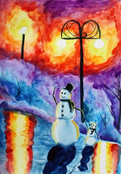 The Friendly Snowmen by Tater-Vader