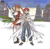Negi and Asuna by anime2people