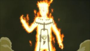Naruto in Nine-Tails Chakra Mode by TheBoar