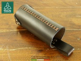 Leather Bottle Holder 4 by GeDaLeather