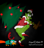 PnF-How the Doof stole Christmas by sam-ely-ember