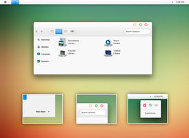 Parallax theme for Windows 7 by Cleodesktop