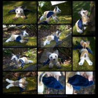 Plushie Commission: Pigeon the Winged Dog by Avanii