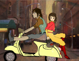 Let's steal Asami's moped. by nowaimegan