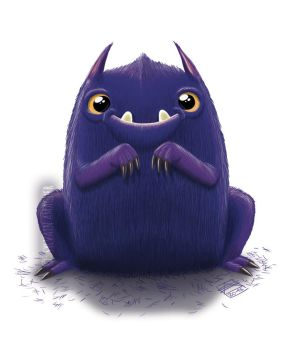 Cute Purple Monster by CaptainSmog