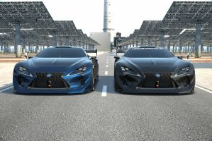 Black and Blue Lexus Vision GT by NightmareRacer85
