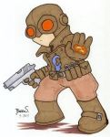 Chibi-Lobster Johnson 2. by hedbonstudios