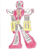 PRA: Red Battlezord by bigtimbears