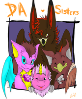 dA Sisters :heart: by gryphonslade