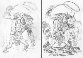 FIRE COLOSSUS sketches by benitogallego