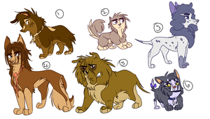 Doggy Adoptables 3: 6/8 OPEN by Wolf-Chalk