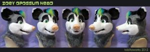 Zoey Opossum Head by LobitaWorks