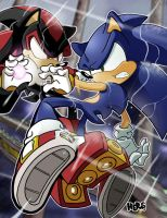 Sonic Versus Shadow, ver. 2007 by herms85