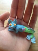 Mercat (Clay Cat Mermaid) by KatnipKat