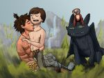 Hiccup and Guy (HTTYD and The Croods) by DR4WNOUT