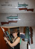 Team Fortress 2 Sniper Rifle Cosplay Prop by DrunkenFangschrecke