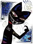 Evil Grin Kitty - Print by Kamelin-Prints