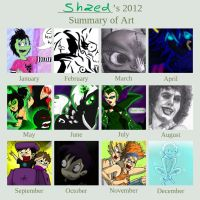 Art Summary of 2012 by Shaed-Knightwing