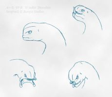 Sangheili faces by Slaskia