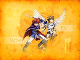 Roy and Pit Wallpaper by OokamiShikonGirl