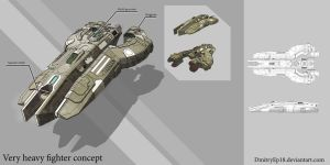 Very heavy spaceship concept by DmitryEp18