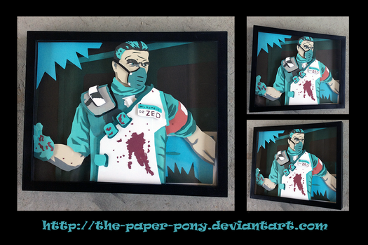 Commission: Dr Zed Shadowbox by The-Paper-Pony
