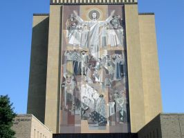 Library Mural - closeup by ChibiLavos