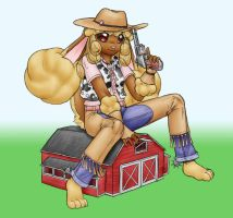 cowgirl bunny...girl o.o by AlloyRabbit