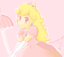 Princess Peach by Sparky2hot4ya